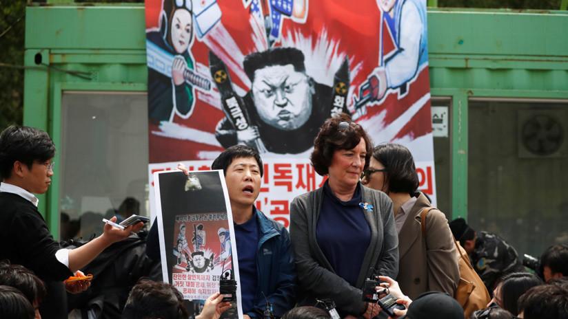 FOTOS: Seúl frustra una campaña de propaganda de desertores contra Pionyang