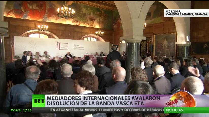 Mediadores internacionales avalan la disolución de la banda terrorista ETA