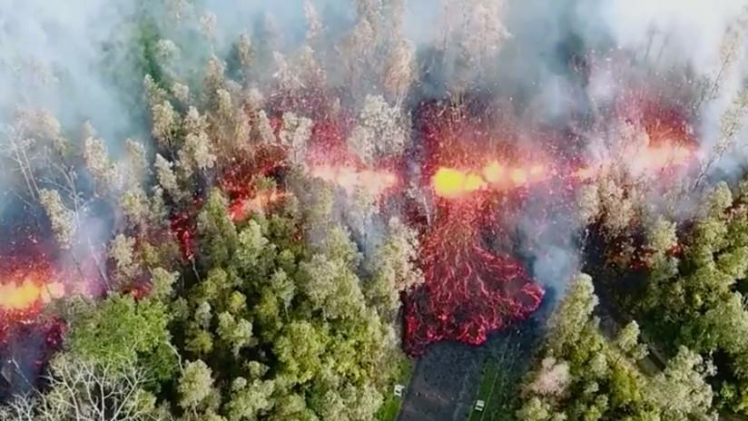 Hawái: Corrientes de lava serpentean por el volcán Kilauea y se abren nuevas fisuras (VIDEOS)