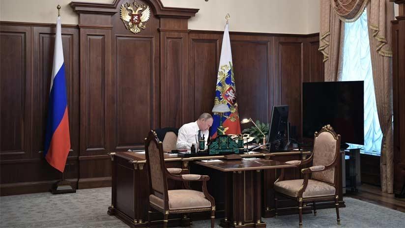 VIDEO: Imágenes únicas del despacho de Putin previo a su investidura presidencial