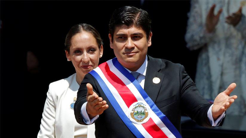 Carlos Alvarado asume como nuevo presidente de Costa Rica