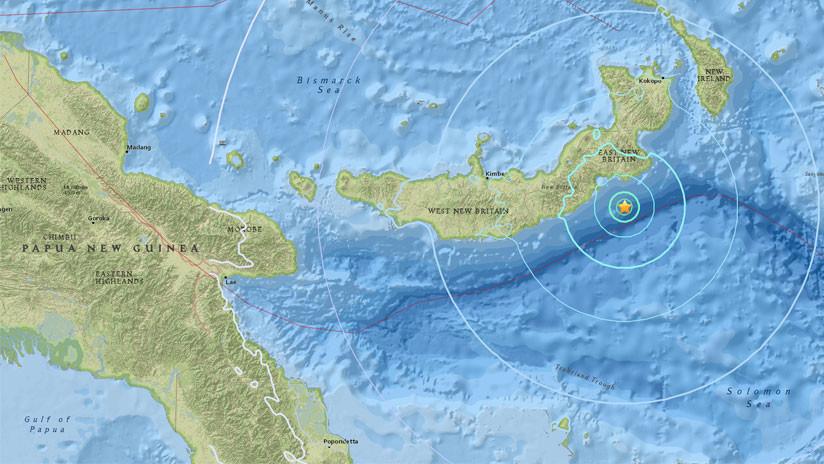 Un fuerte sismo de magnitud 6,0 sacude Papúa Nueva Guinea