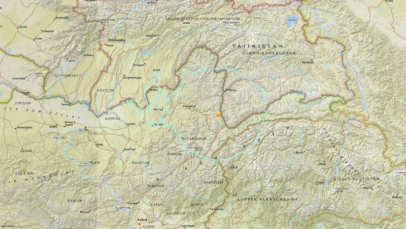 Sismo de magnitud 6,2 se registra en el noreste de Afganistán