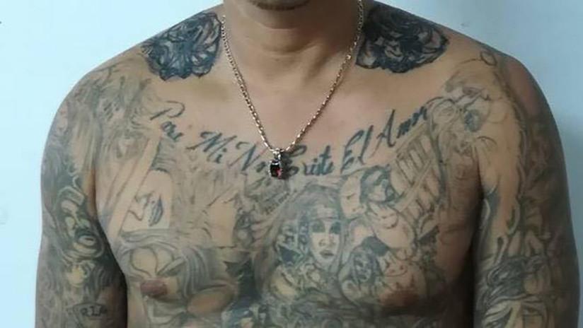 Costa Rica: Tatuajes delatan a un salvadoreño perteneciente a la Mara Salvatrucha (FOTOS)