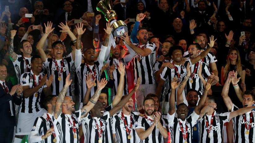 La Juventus de Turín, campeona por cuarta vez consecutiva de la Copa de Italia
