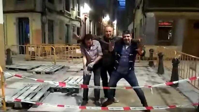 VIDEO: La noche de fiesta de unos españoles se hace viral pero pudo terminar en tragedia