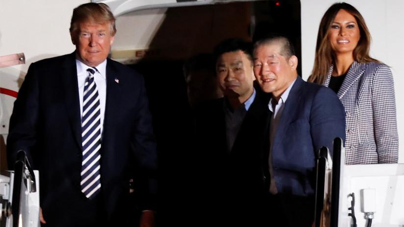Llegan a EE.UU. los tres estadounidenses liberados en Corea del Norte (VIDEO)