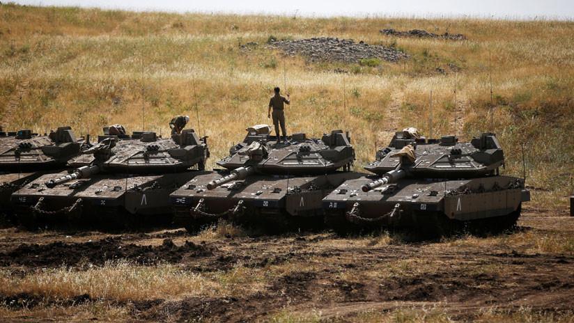 VIDEO: Tropas de Israel esperan en los Altos del Golán preparadas para la acción