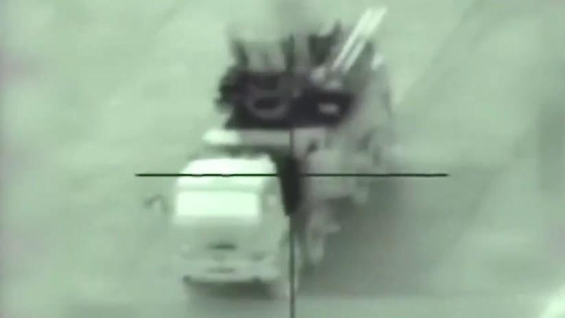 VIDEO: El momento exacto en el que un misil israelí destruye un sistema antiaéreo sirio Pantsir-S1