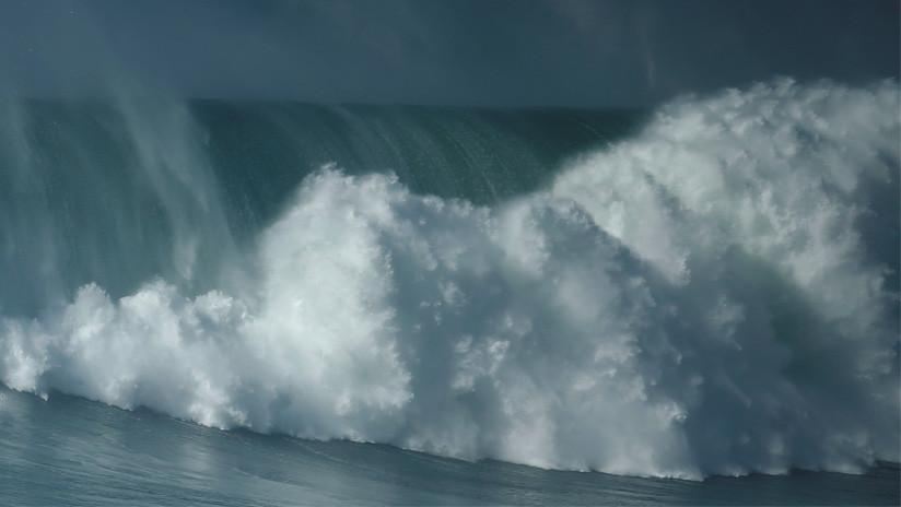 Registraron la ola más grande de la historia del hemisferio sur — Impactante