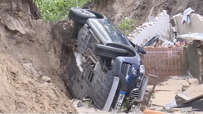 VIDEOS: Deslizamientos de tierra y calles sumergidas en el norte de Alemania