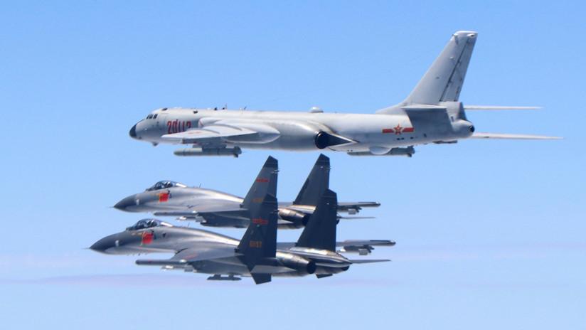 China envía por primera vez a sus cazas Su-35 a rodear Taiwán