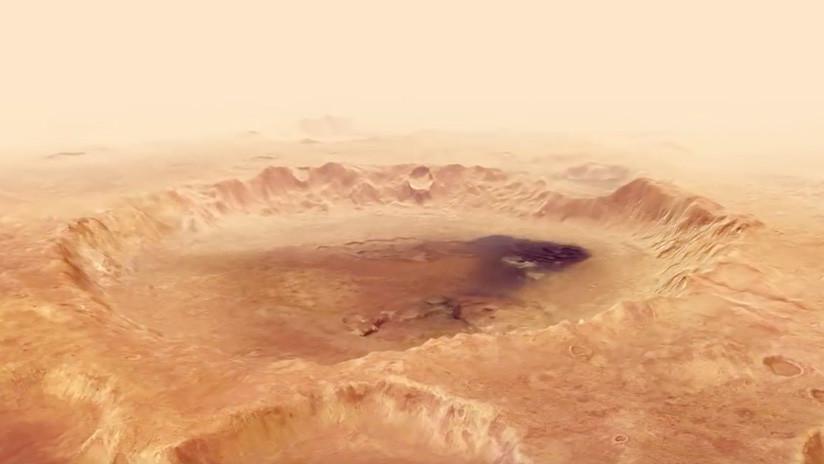 VIDEO: Imágenes inéditas del cráter Neukum en un espectacular sobrevuelo de Marte