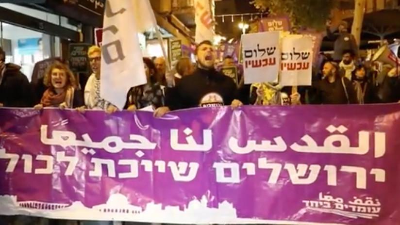 """""""¡Renuncia Netanyahu!"""": Israelíes protestan por traslado de Embajada de EE.UU. a Jerusalén (VIDEO)"""