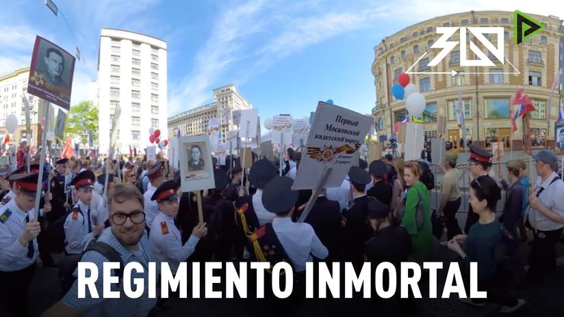 Regimiento Inmortal en 360°: Marcha multitudinaria durante el del Día de la Victoria en Moscú