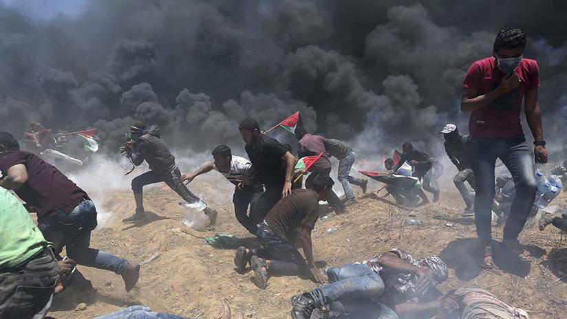 """""""Terrible masacre"""": 41 palestinos muertos y casi 2.000 heridos en la frontera entre Gaza e Israel"""