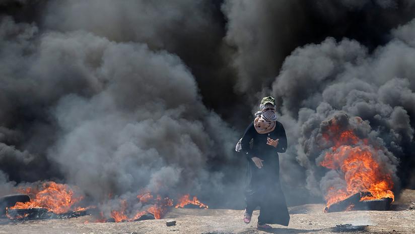 Duras imágenes: Decenas de palestinos muertos el día del traslado de la Embajada de EE.UU.