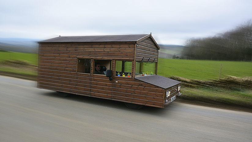 Una casa rodante bate récord de velocidad