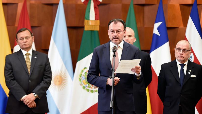 """Grupo de Lima pide a Venezuela """"suspender"""" las presidenciales del 20 de mayo"""