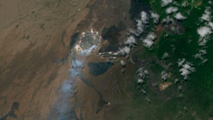 FOTO: Un astronauta capta desde el espacio la erupción del Kilauea