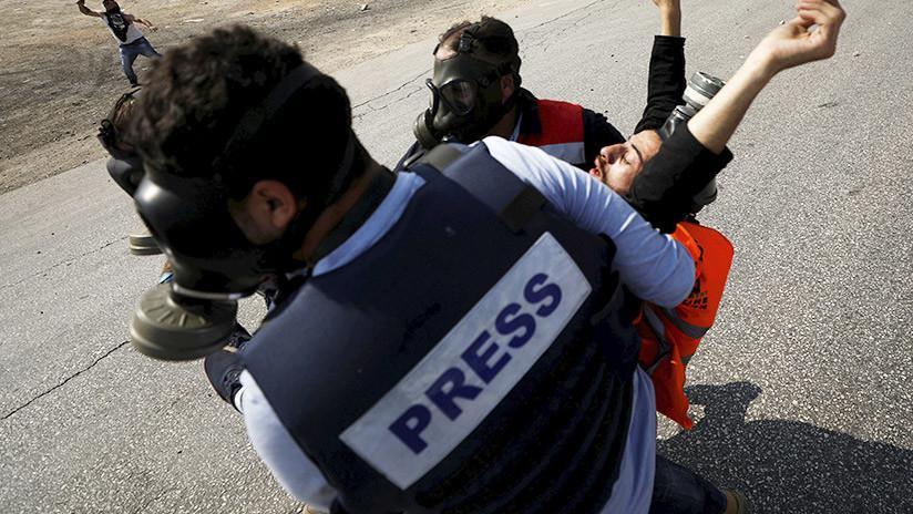 VIDEO: Un dron del Ejército israelí ataca a los periodistas con gas lacrimógeno en Gaza