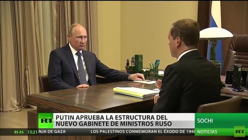 Putin aprueba la estructura del nuevo Gabinete de ministros ruso