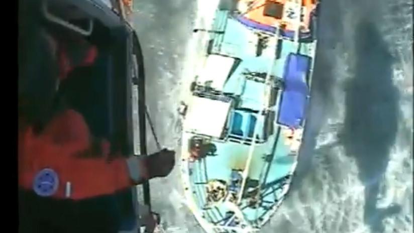 VIDEO: Quiso salvar a un tiburón pero tuvieron que salvarlo a él en helicóptero