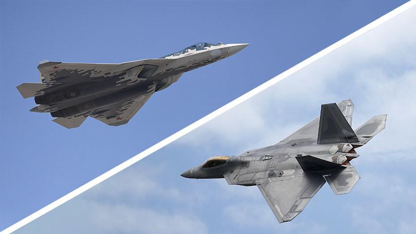 Guerra por el cielo: El caza Su-57 ruso contra el F-22 Raptor de EE.UU.