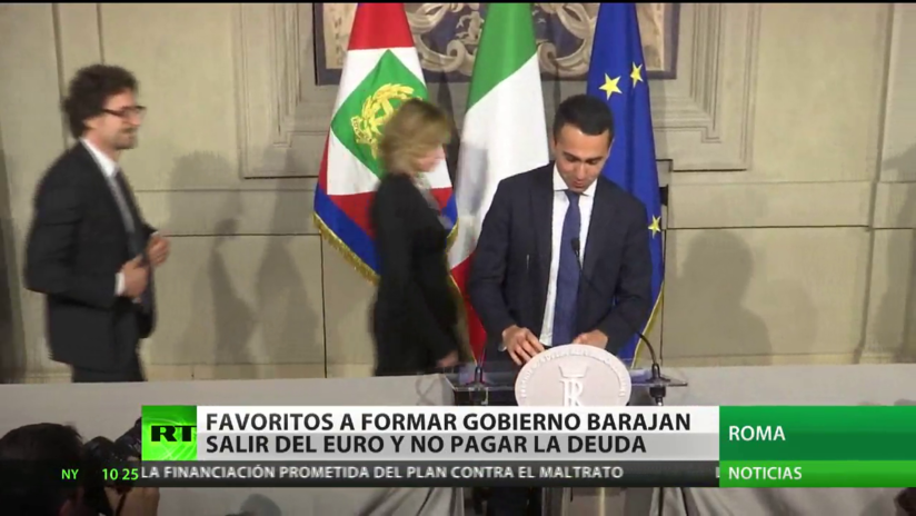 Dos partidos italianos negocian salir del euro y pagar la deuda al Banco Central Europeo