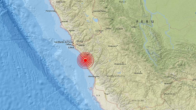 Perú: Se registra un sismo de magnitud de 5,2 al sur de Lima