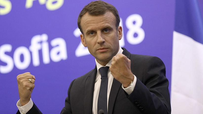 Macron: Francia no iniciará una guerra de sanciones con EE.UU. por Irán