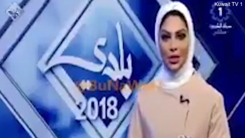 """La presentadora de un canal de Kuwait pierde su trabajo por decirle """"guapo"""" a un colega (VIDEO)"""
