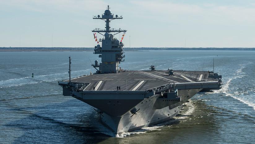 La Marina de EE.UU. someterá a pruebas de explosiones a su avanzado portaviones USS Gerald R. Ford