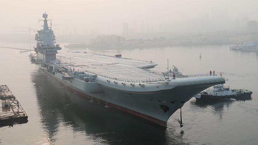 El primer portaviones construido en China completa sus pruebas marítimas