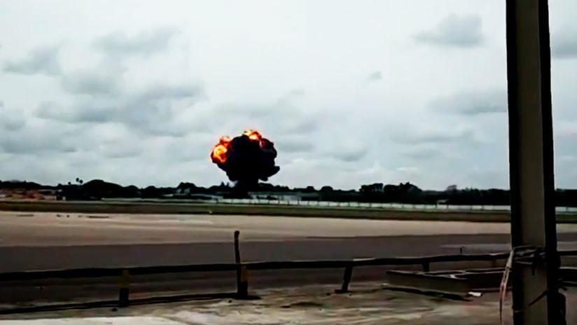 VIDEO: Fuego y una densa humareda negra se elevan en el lugar del siniestro del Boeing 737 en Cuba