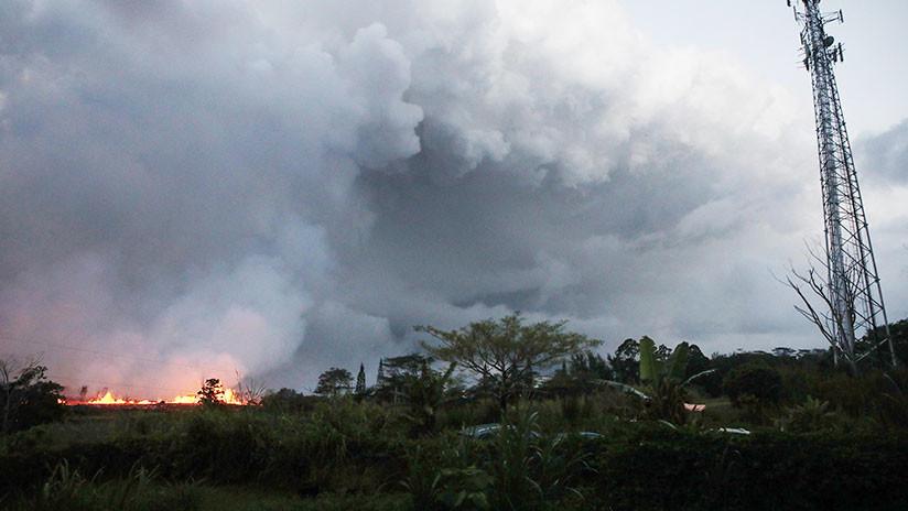 Hawái: Nueva gran erupción de cenizas en el volcán Kilauea