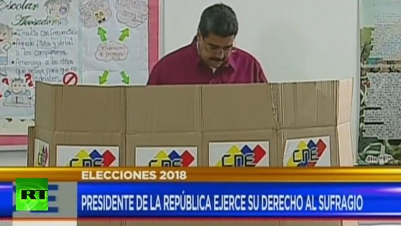 Maduro vota en las elecciones presidenciales de Venezuela