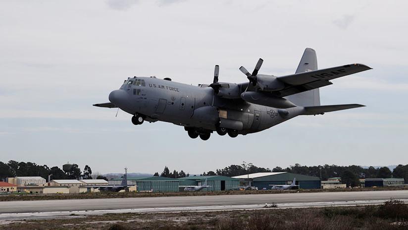 VIDEO: El estremecedor vuelo rasante de un C-130 a un metro de un soldado en Yemen