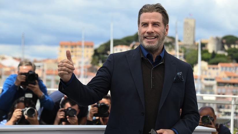 VIDEOS: John Travolta baila en Cannes una canción de 50 Cent y revoluciona Twitter