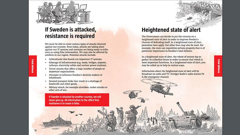 Los suecos reciben un folleto sobre cómo prepararse para una guerra