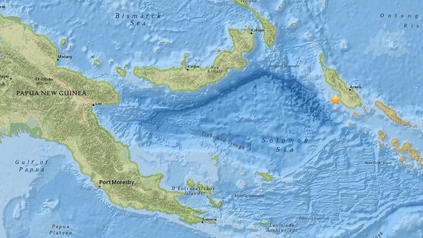 Un sismo de magnitud 5,4 sacude Papúa Nueva Guinea
