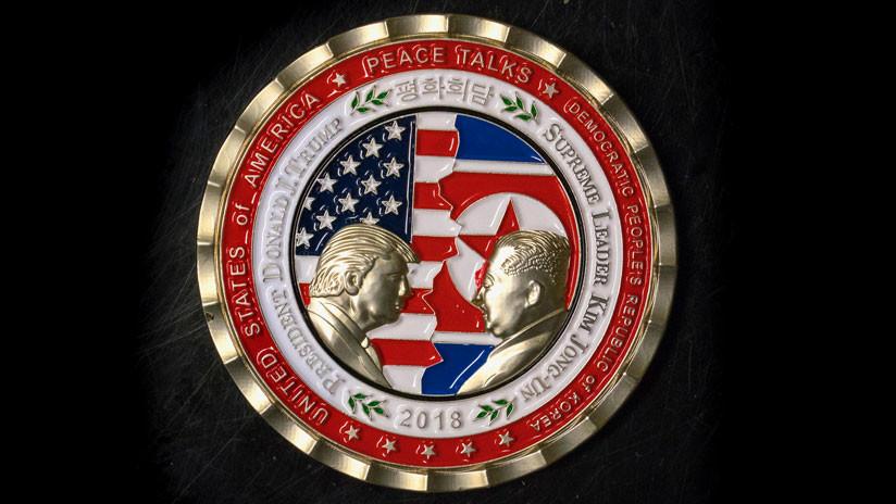 FOTOS: Trump y Kim se enfrentan en una nueva moneda conmemorativa de la Casa Blanca
