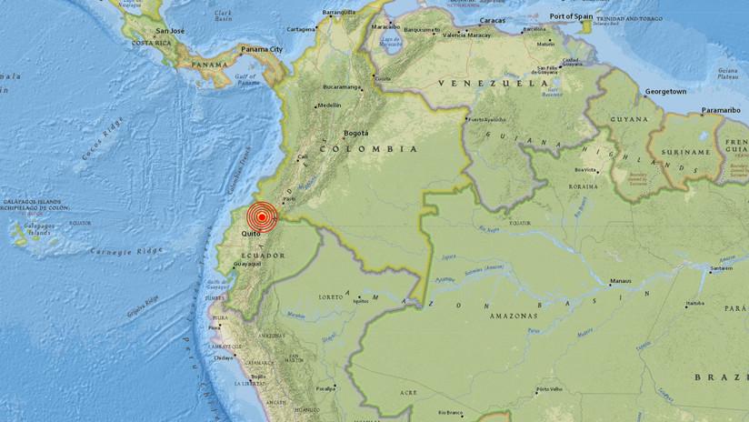 Un sismo de magnitud 5,4 sacude la región norte de Ecuador