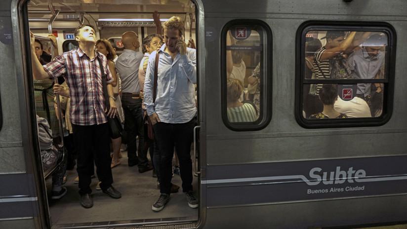 VIDEOS: Huelga del metro en Buenos Aires tras la detención de 16 trabajadores