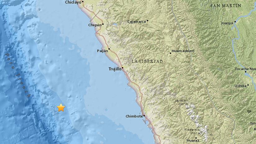 Se registra un sismo de magnitud de 5,2 en Perú