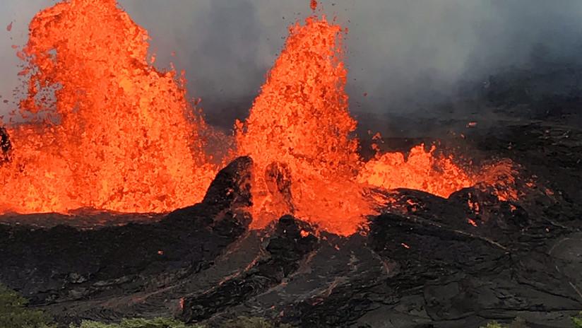 """""""Más caliente y más rica en gases"""": Detectan cambios en la lava del volcán Kilauea"""