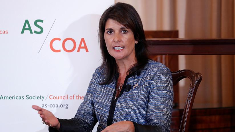 """""""Tienes sangre en las manos"""": increpan a Haley en una conferencia por defender Israel (VIDEO)"""
