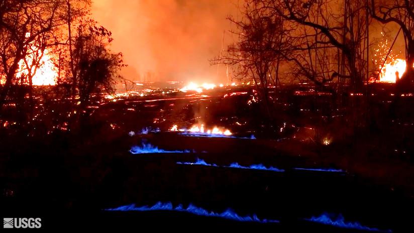 VIDEO: Por qué se producen las insólitas llamas azules en torno al volcán Kilauea