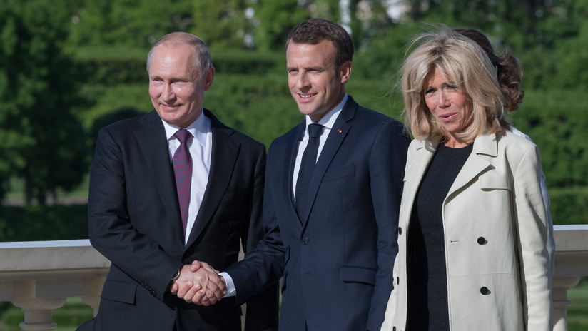 Putin se reúne en San Petersburgo con Macron para discutir los mayores desafíos internacionales