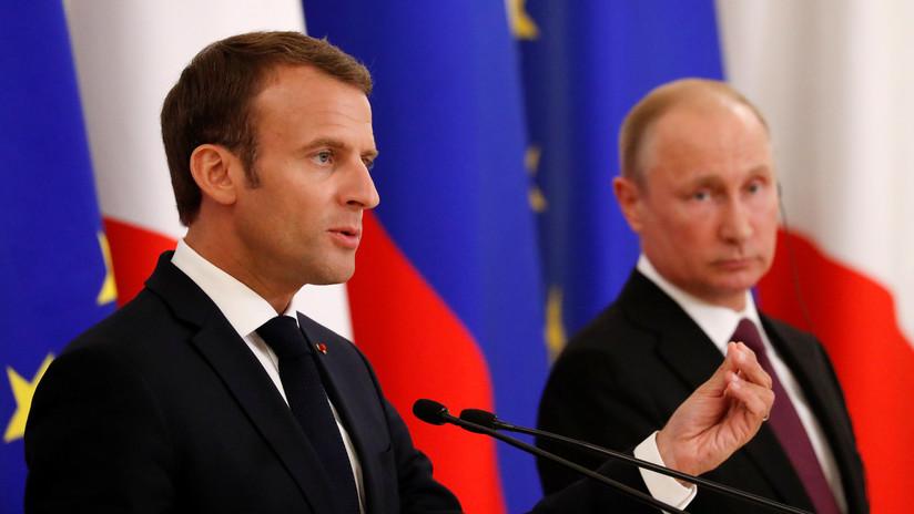 """Macron: """"Soy muy consciente del papel insustituible de Rusia en varios asuntos internacionales"""""""